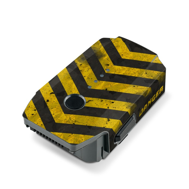 DJI Mavic Pro Battery Skin design with black, yellow, gray colors