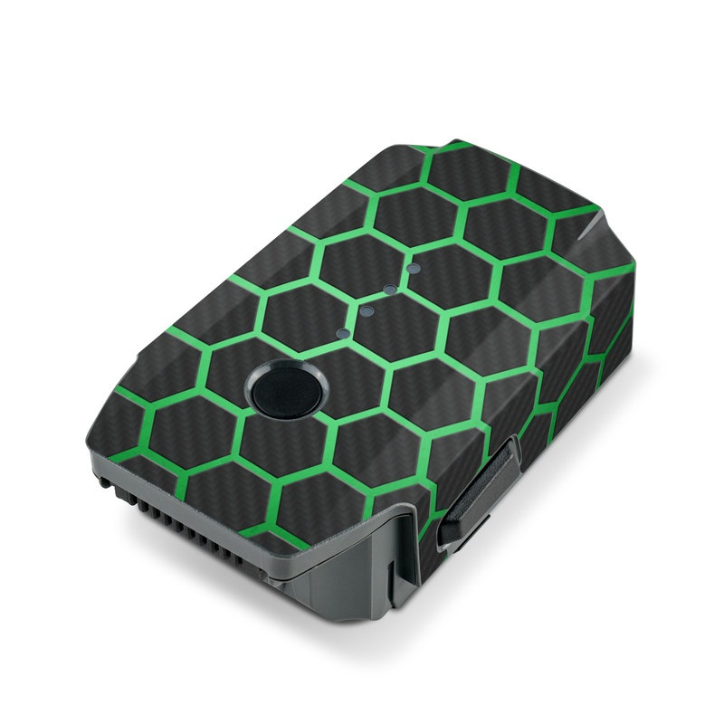 DJI Mavic Pro Battery Skin design with black, gray, green colors