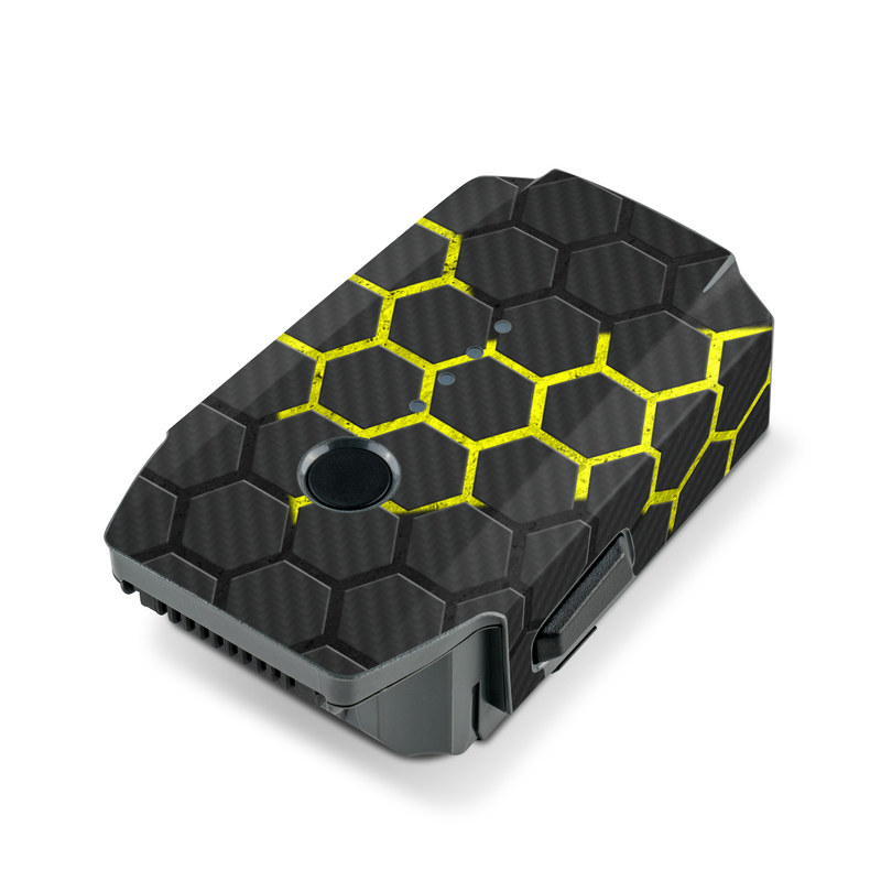 DJI Mavic Pro Battery Skin design with black, gray, yellow colors