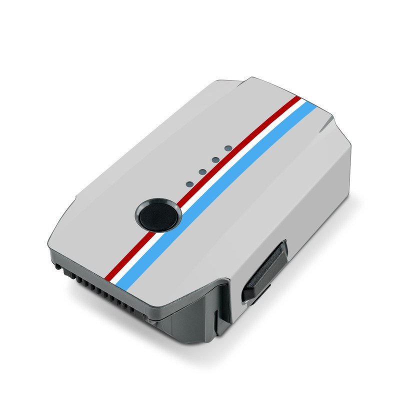 DJI Mavic Pro Battery Skin design with gray, blue, red, white, black colors