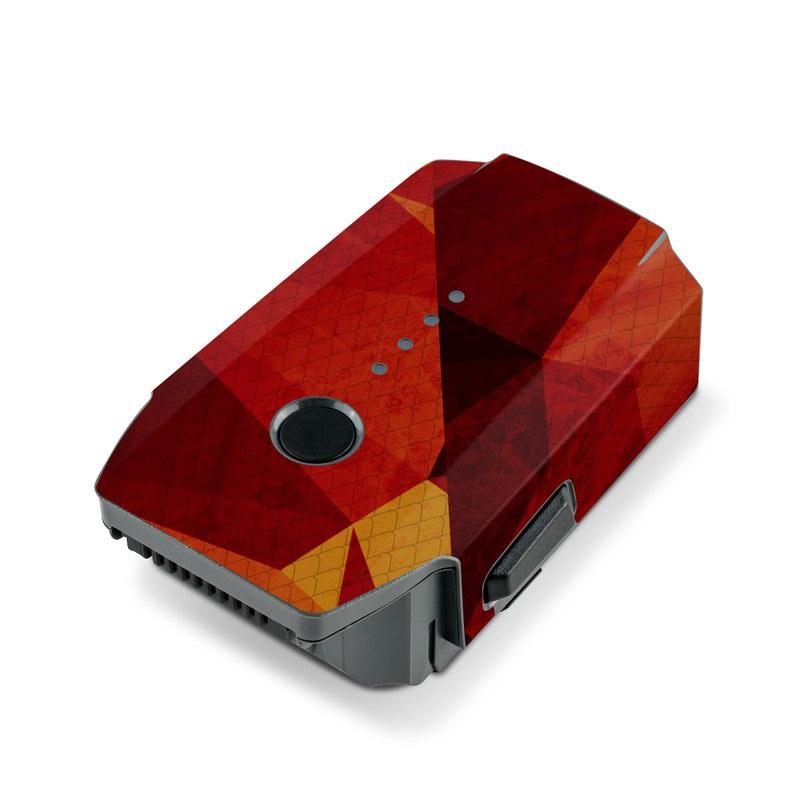 DJI Mavic Pro Battery Skin design of Orange, Red, Yellow, Triangle, Pattern, Amber, Design, Art, Visual arts, Modern art with black, orange, yellow colors