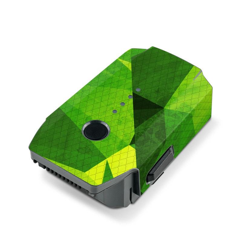 DJI Mavic Pro Battery Skin design of Green, Pattern, Leaf, Design, Illustration with green colors