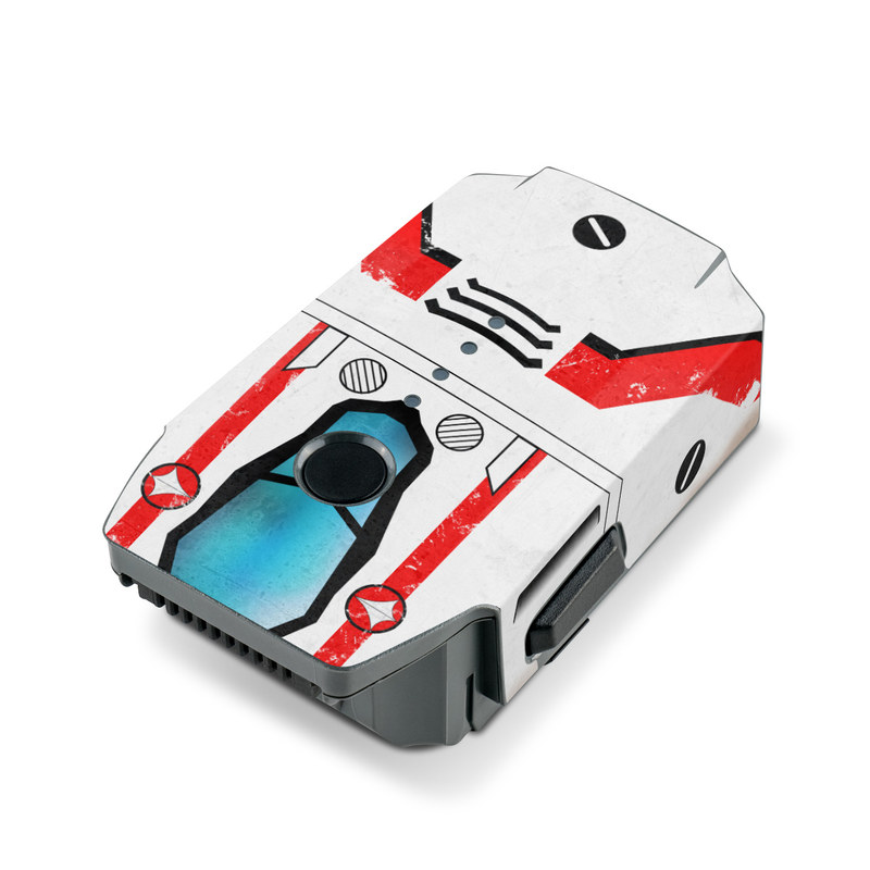 DJI Mavic Pro Battery Skin design with white, red, blue colors