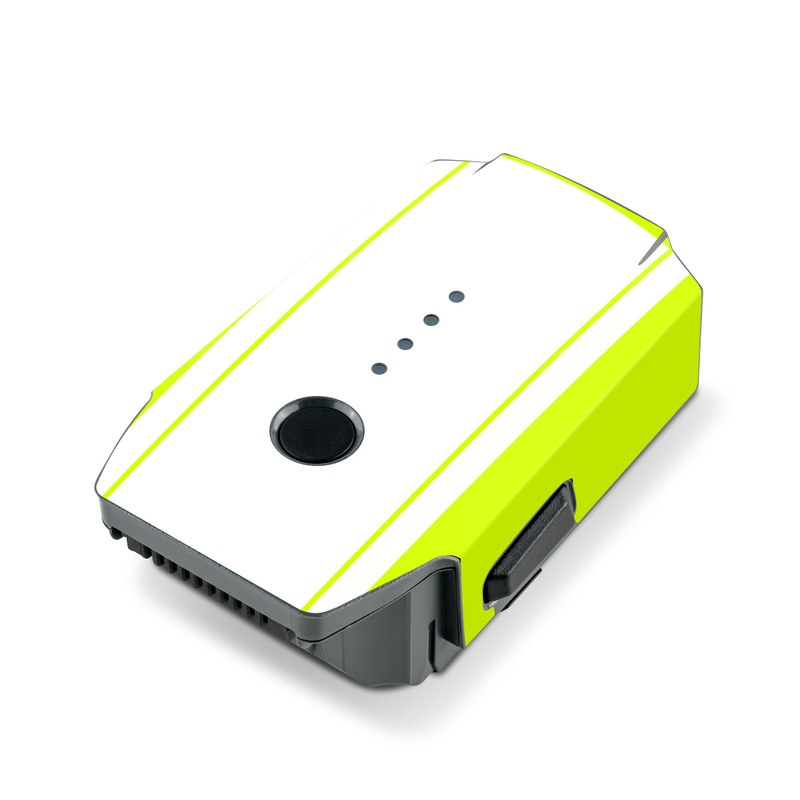 DJI Mavic Pro Battery Skin design with white, green, yellow, orange, red colors