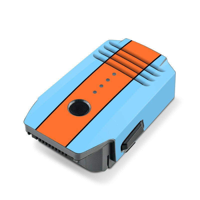 DJI Mavic Pro Battery Skin design with blue, orange colors