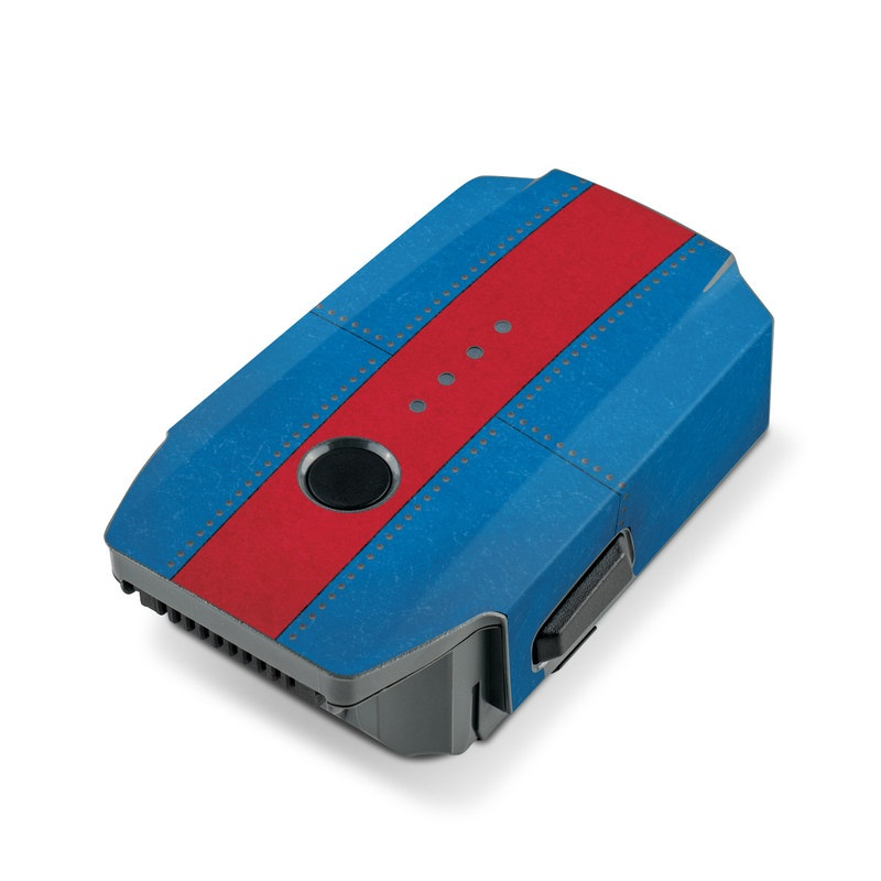 DJI Mavic Pro Battery Skin design with white, blue, red colors