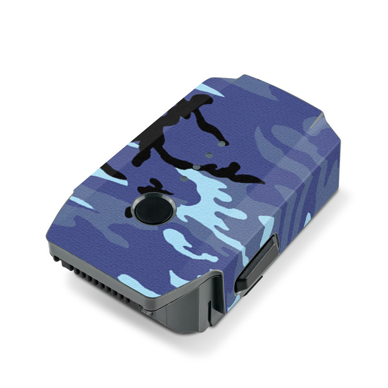 DJI Mavic Pro Battery Skin design of Military camouflage, Pattern, Blue, Aqua, Teal, Design, Camouflage, Textile, Uniform with blue, black, gray, purple colors