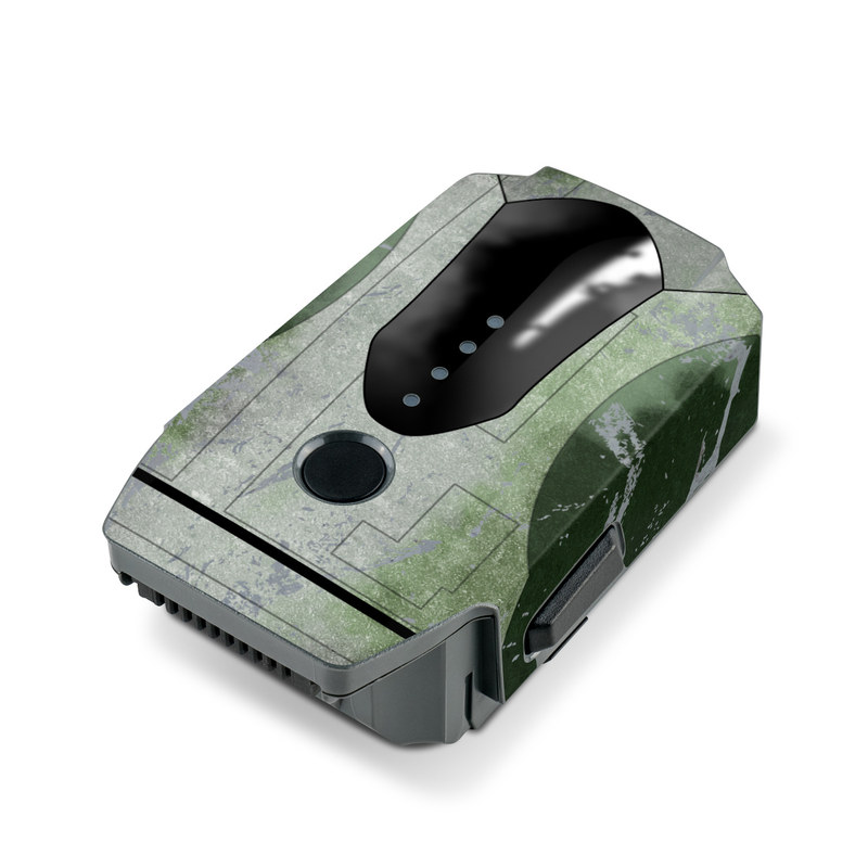 DJI Mavic Pro Battery Skin design with red, green, gray colors