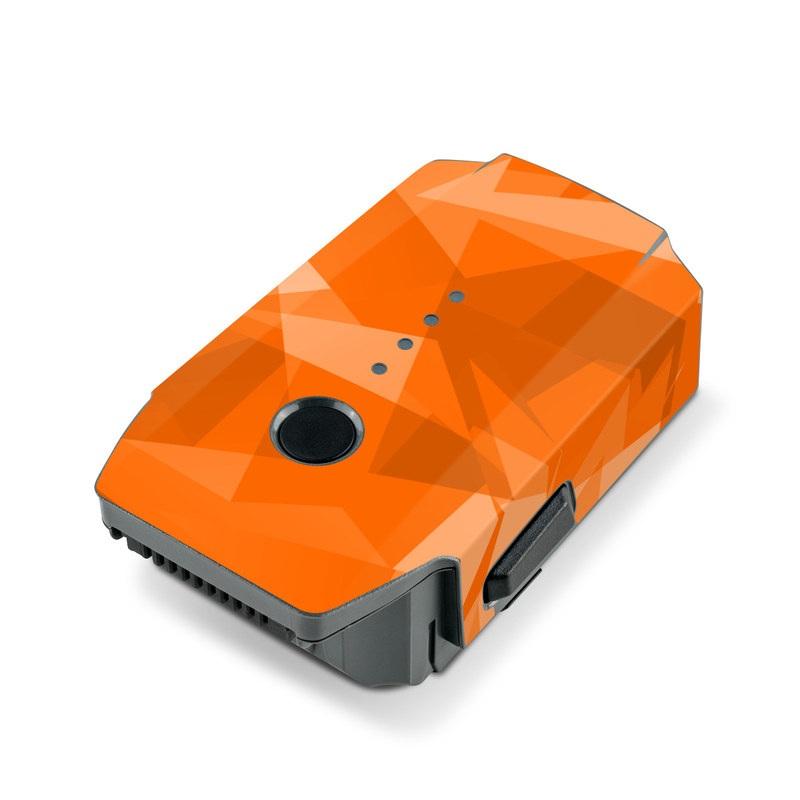 DJI Mavic Pro Battery Skin design with orange colors