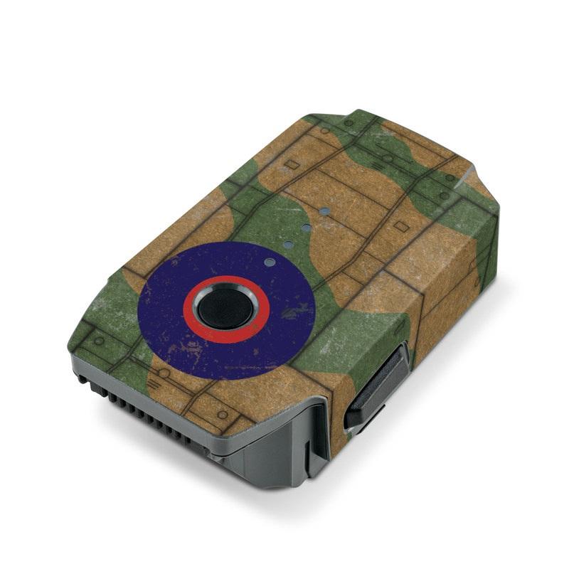 DJI Mavic Pro Battery Skin design with green, brown colors