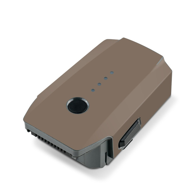 DJI Mavic Pro Battery Skin design of Brown, Text, Beige, Material property, Font with brown colors