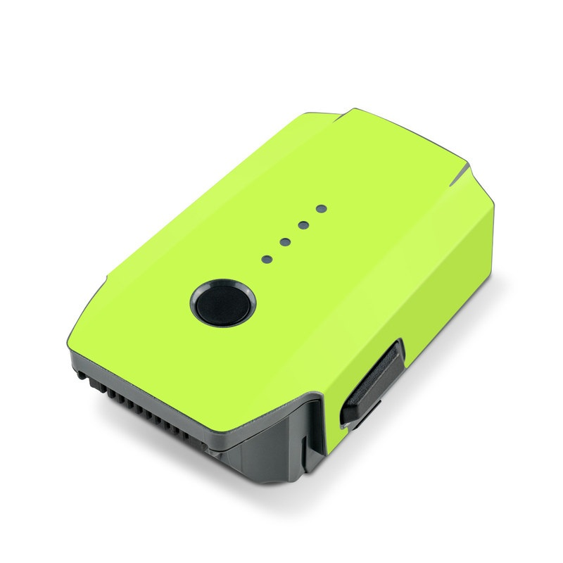 DJI Mavic Pro Battery Skin design of Green, Yellow, Text, Leaf, Font, Grass with green colors