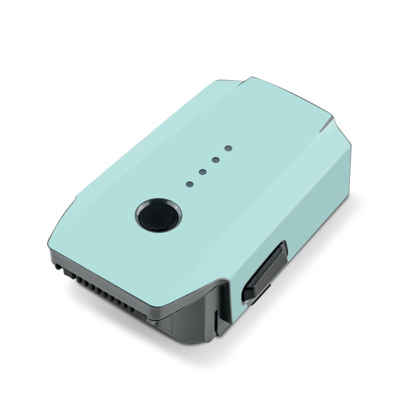 DJI Mavic Pro Battery Skin design of Green, Blue, Aqua, Turquoise, Teal, Azure, Text, Daytime, Yellow, Sky with blue colors
