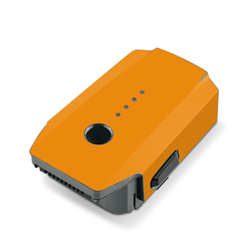 Solid State Orange DJI Mavic Pro Battery Skin