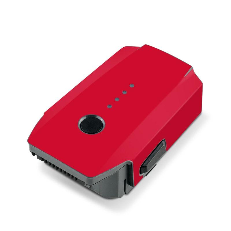 Solid State Red DJI Mavic Pro Battery Skin