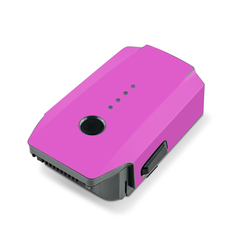 DJI Mavic Pro Battery Skin design of Violet, Pink, Purple, Red, Lilac, Magenta, Blue, Lavender, Text, Sky with pink colors