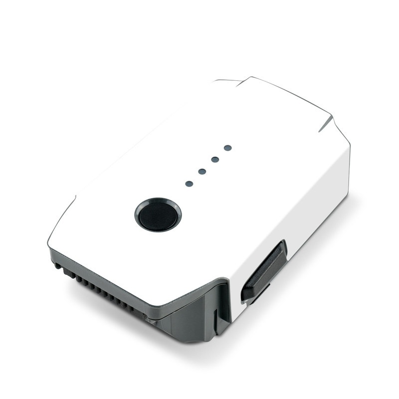 Solid State White DJI Mavic Pro Battery Skin