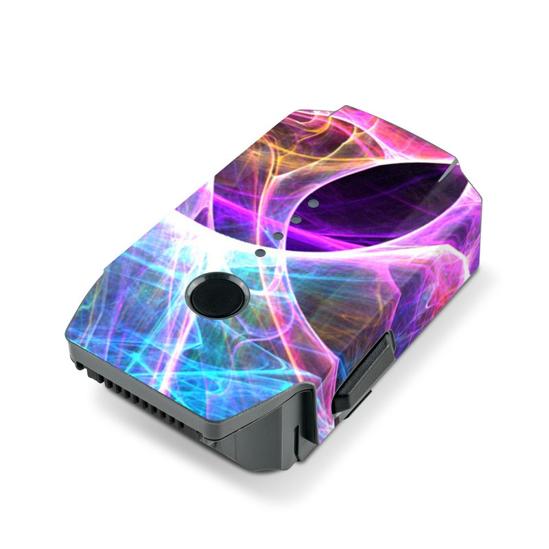 DJI Mavic Pro Battery Skin design of Fractal art, Light, Pattern, Purple, Graphic design, Design, Colorfulness, Electric blue, Art, Neon with black, gray, blue, purple colors