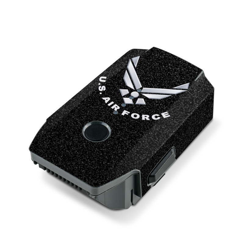 USAF Black DJI Mavic Pro Battery Skin