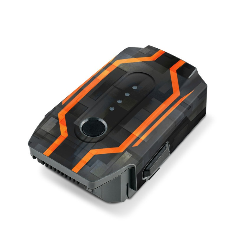 DJI Mavic Pro Battery Skin design with black, gray, orange colors
