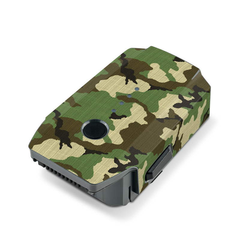 DJI Mavic Pro Battery Skin design of Military camouflage, Camouflage, Clothing, Pattern, Green, Uniform, Military uniform, Design, Sportswear, Plane with black, gray, green colors