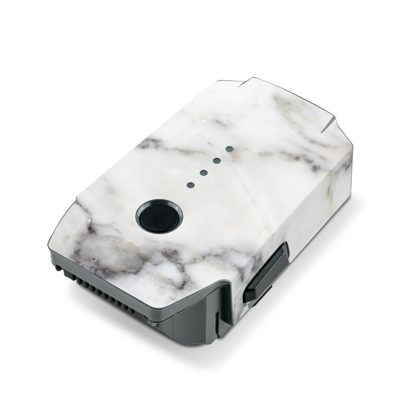 DJI Mavic Pro Battery Skin design of White, Geological phenomenon, Marble, Black-and-white, Freezing with white, black, gray colors
