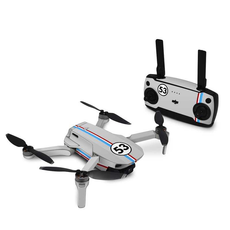 DJI Mini SE Skin design of Line, Sign, Games with gray, blue, red, white, black colors