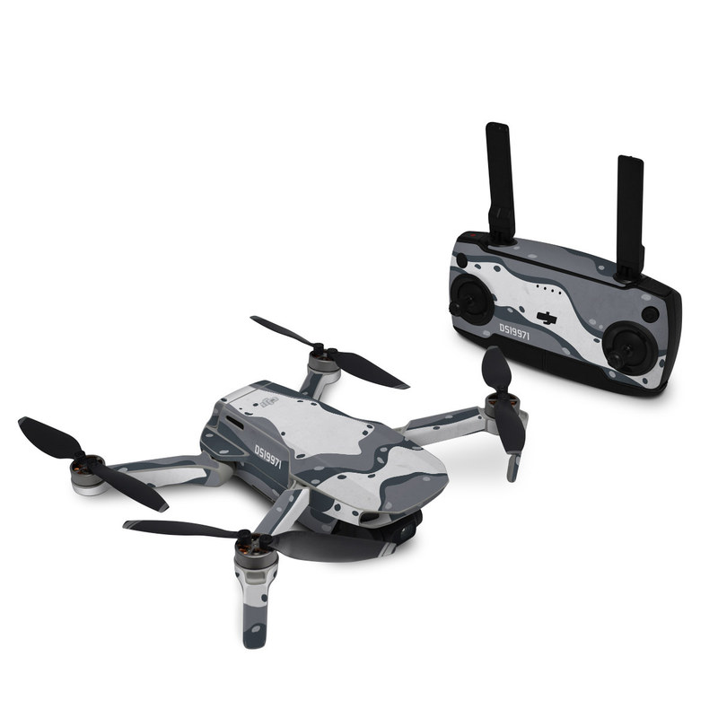 DJI Mini SE Skin design of White, Pattern, Water, Design, Illustration, Black-and-white, Metal, Drawing, Style with black, white, gray colors