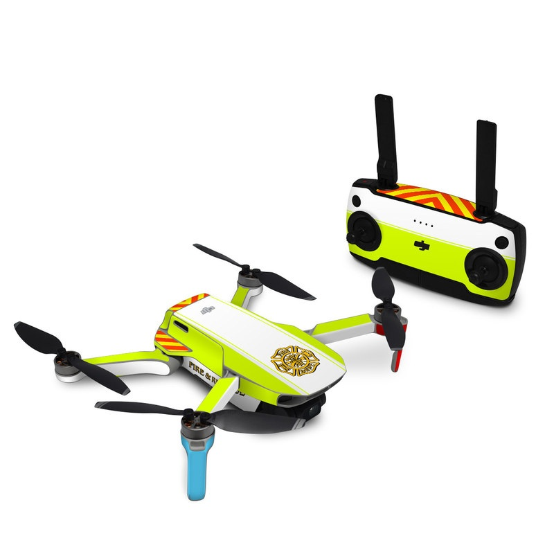 DJI Mini SE Skin design of Yellow, Line, Font, Military rank with white, green, red, yellow colors