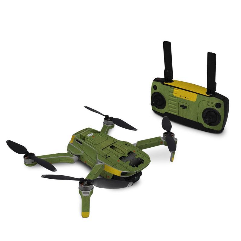 DJI Mini SE Skin design with green, black, yellow, red colors