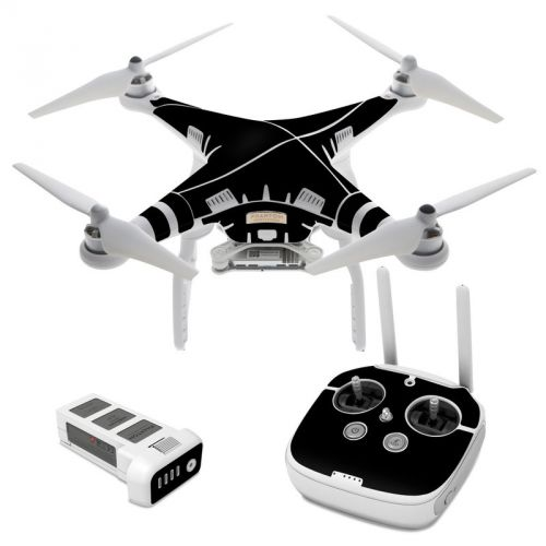 Solid State Black DJI Phantom 3 Skin