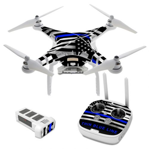 Thin Blue Line DJI Phantom 3 Skin