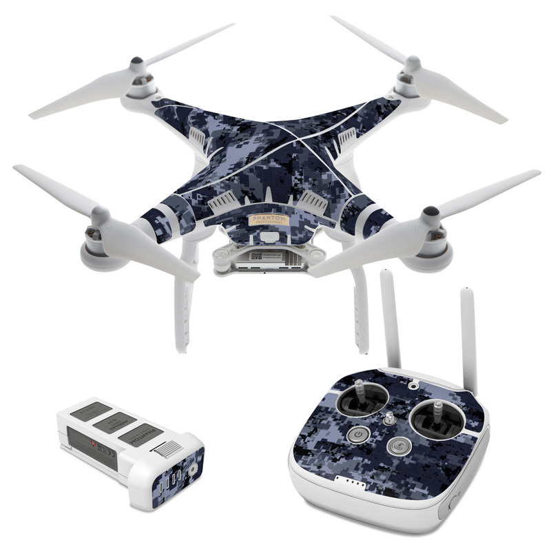 Digital Navy Camo DJI Phantom 3 Skin