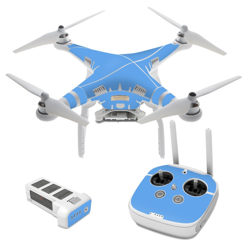 DJI Phantom 3 Skin design of Sky, Blue, Daytime, Aqua, Cobalt blue, Atmosphere, Azure, Turquoise, Electric blue, Calm with blue colors