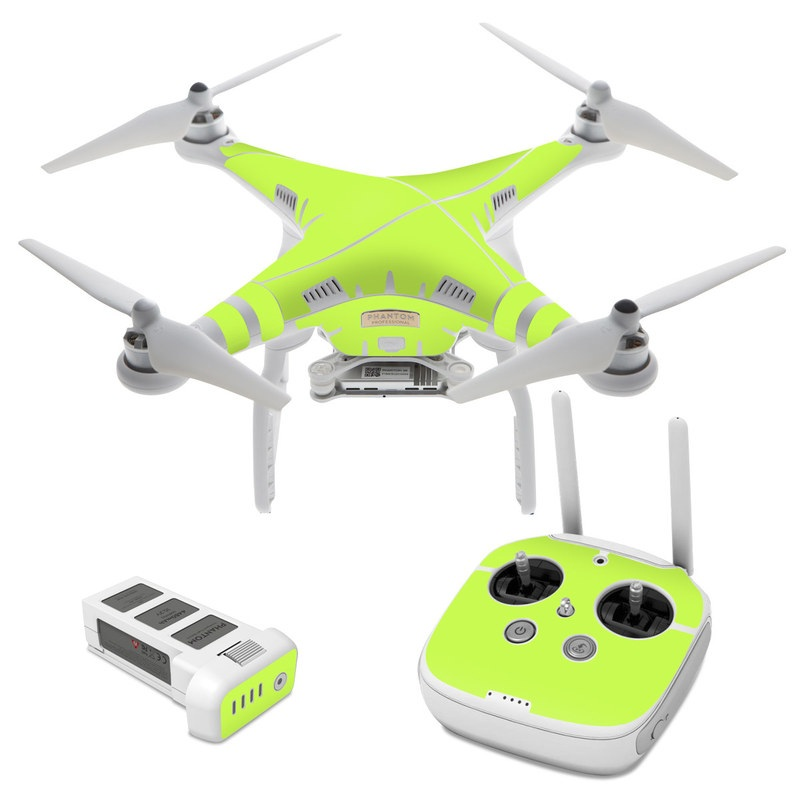 DJI Phantom 3 Skin design of Green, Yellow, Text, Leaf, Font, Grass with green colors