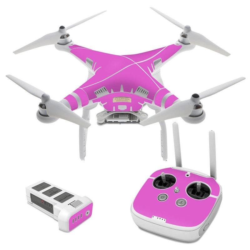 Solid State Vibrant Pink DJI Phantom 3 Skin