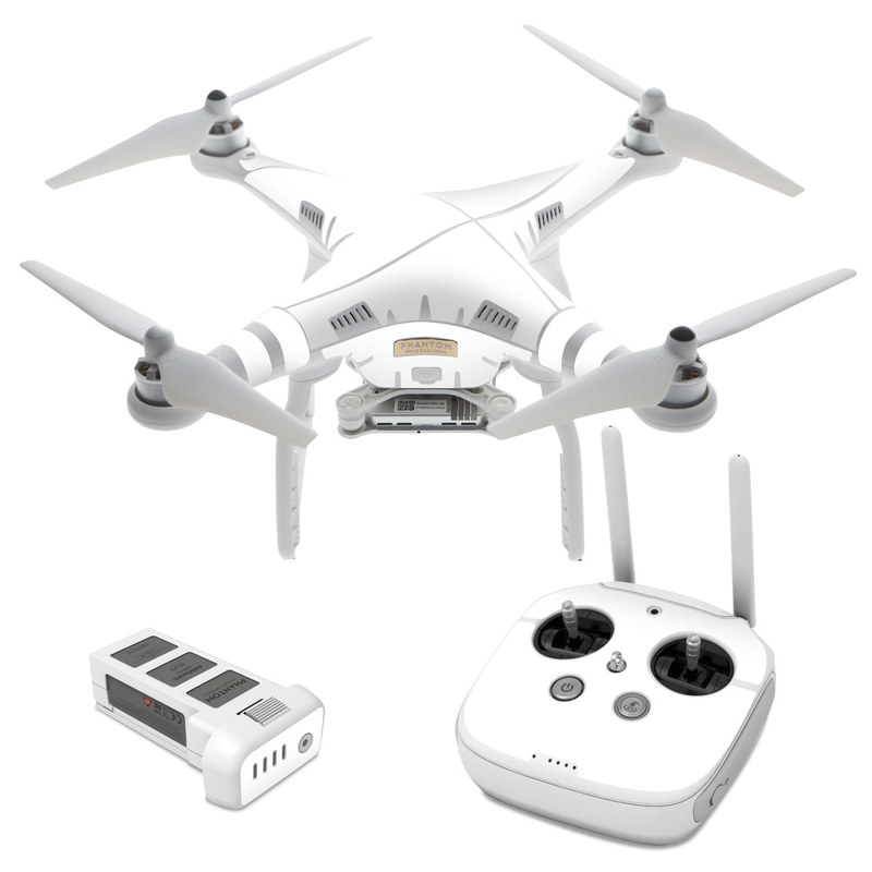 Solid State White DJI Phantom 3 Skin