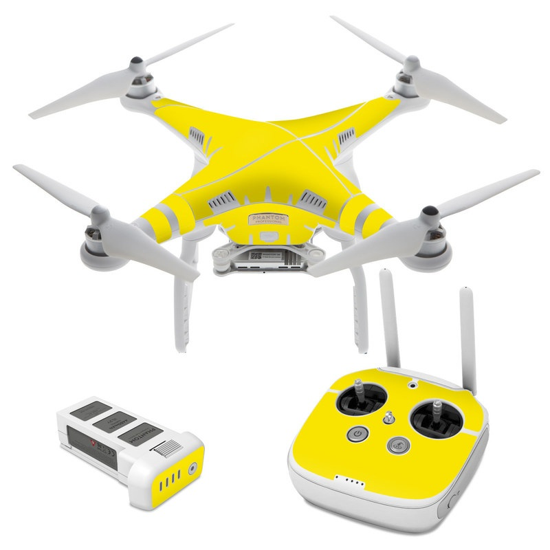 Solid State Yellow DJI Phantom 3 Skin
