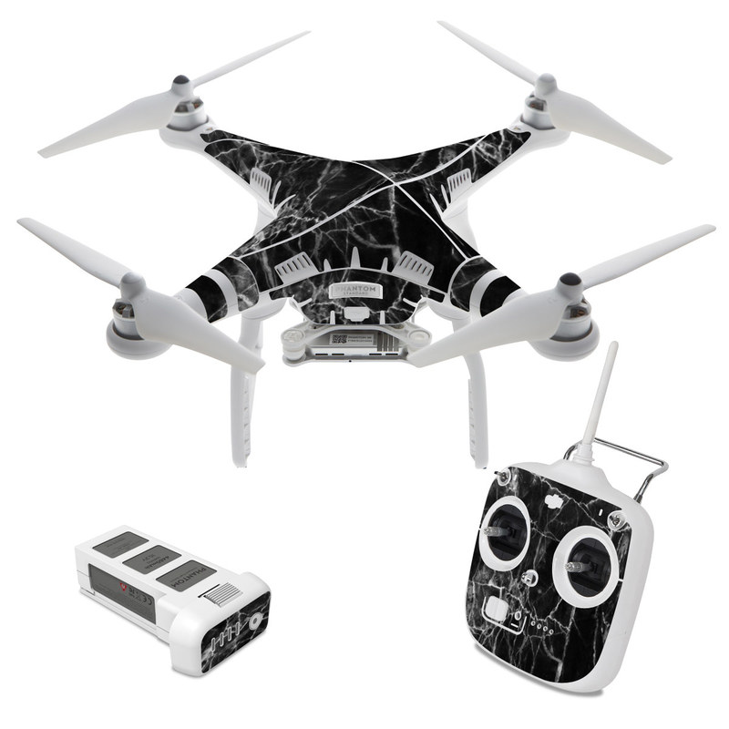 DJI Phantom 3 Standard Skin design of Black, White, Nature, Black-and-white, Monochrome photography, Branch, Atmosphere, Atmospheric phenomenon, Tree, Sky with black, white colors
