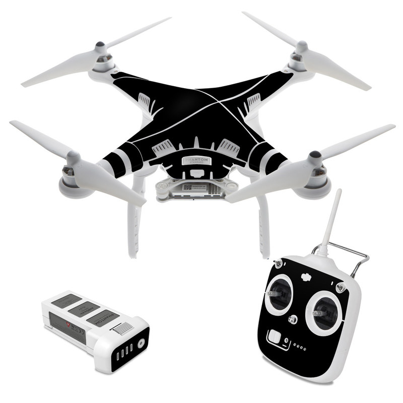 DJI Phantom 3 Standard Skin design of Black, Darkness, White, Sky, Light, Red, Text, Brown, Font, Atmosphere with black colors