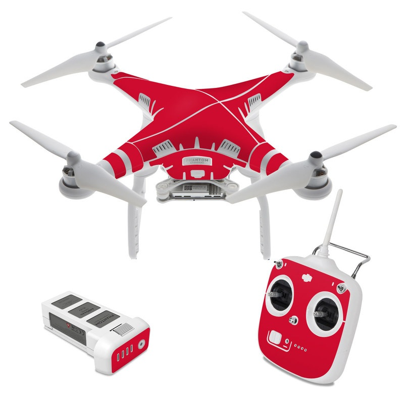 Solid State Red DJI Phantom 3 Standard Skin