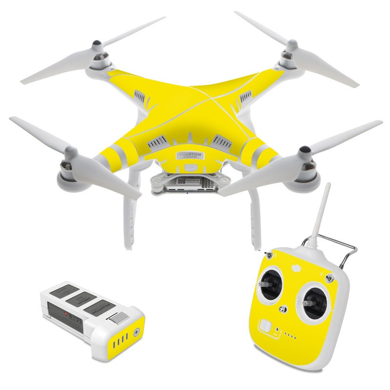 Solid State Yellow DJI Phantom 3 Standard Skin