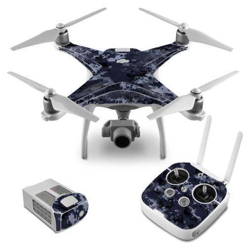 Digital Navy Camo DJI Phantom 4 Skin
