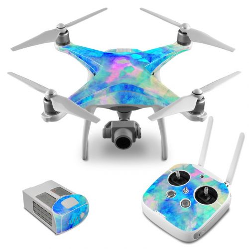 Electrify Ice Blue DJI Phantom 4 Skin