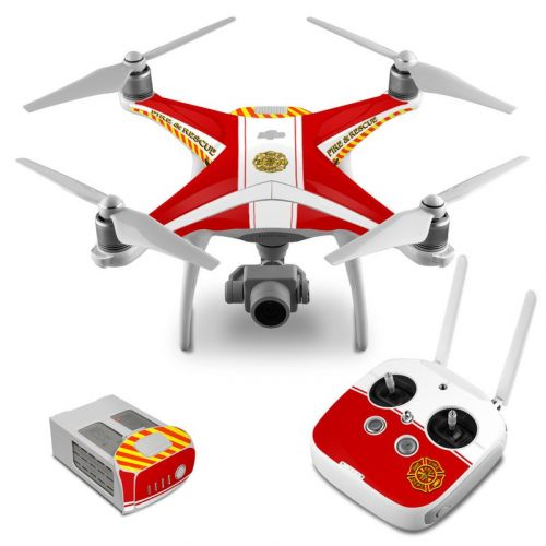 Fireproof DJI Phantom 4 Skin