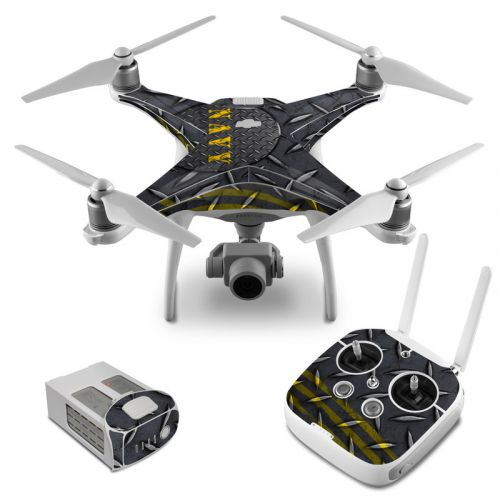 Navy Diamond Plate DJI Phantom 4 Skin