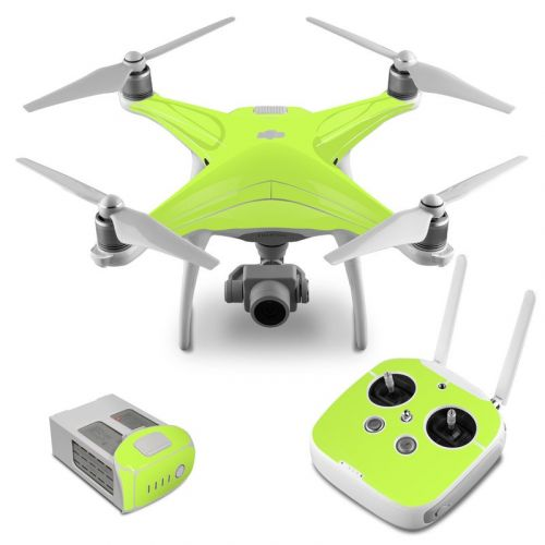 Solid State Lime DJI Phantom 4 Skin