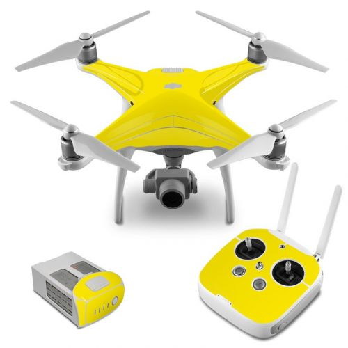 Solid State Yellow DJI Phantom 4 Skin