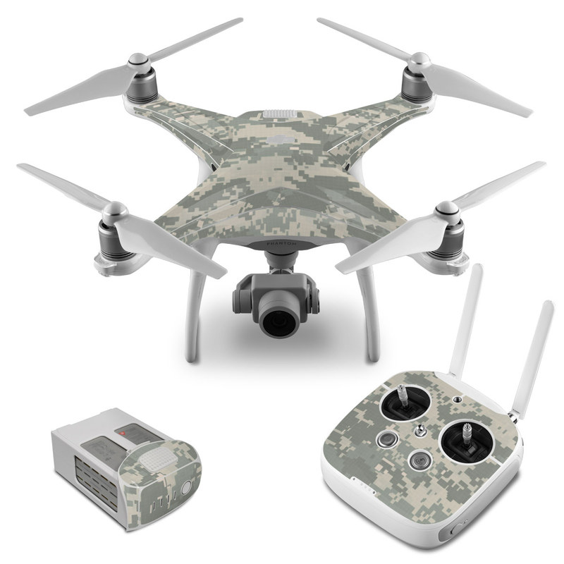 DJI Phantom 4 Skin design of Military camouflage, Green, Pattern, Uniform, Camouflage, Design, Wallpaper with gray, green colors