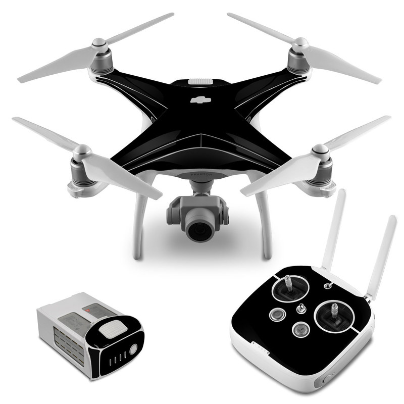Solid State Black DJI Phantom 4 Skin